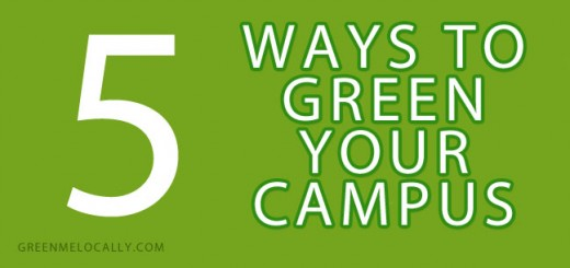 Learn 5 tips on how to green your college campus