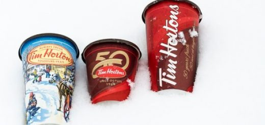 tim hortons trash